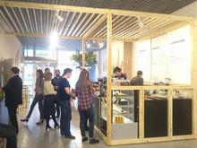 В «бодрую» кофейню в БЦ «Кронос» выстроилась очередь