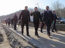 На подъезде к Мызинскому мосту появятся новые аншлаги об ограничении проезда для фур