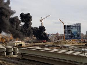 В Челябинске назвали причину и виновников пожара на стройке конгресс-холла
