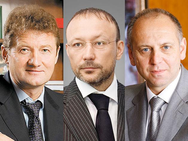 Андрей Козицын, УГМК; Игорь Алтушкин, РМК; Дмитрий Пумпянский, ТМК