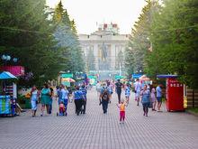 Из центрального парка в Красноярске могут исчезнуть все временные сооружения