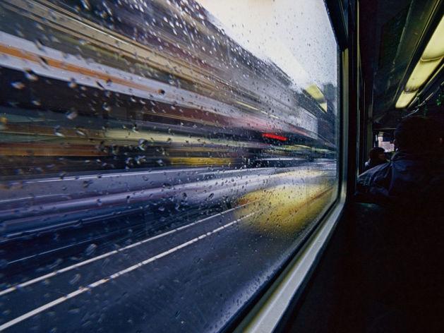 Вид из окна трамвая