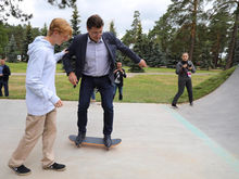 Глеб Никитин открыл скейт-парк в Выксе