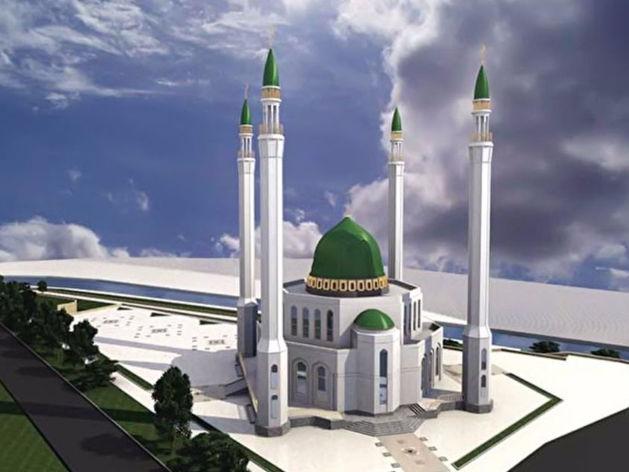 Эскиз Соборной мечети на ул. Декабристов — Степана Разина