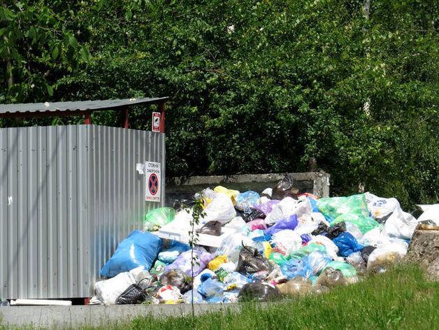 мусор на контейнерной площадке