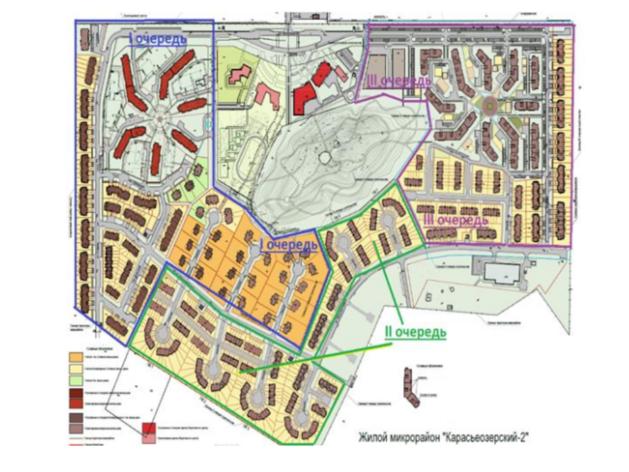 План-схема «Карасьеозерский-2». На продажу идут 2 и 3 очереди