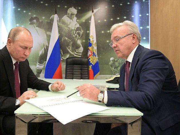 Владимир Путин и Александр Усс