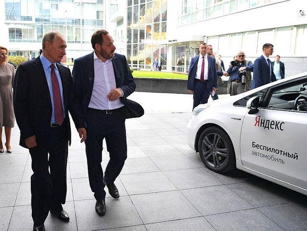 Владимир Путин и Аркадий Волож, основатель «Яндекса»