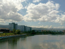 В Красноярске начали чистку русла Абаканской протоки