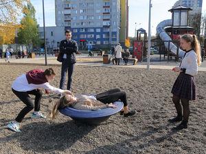 Детский игровой комплекс открылся в центре Автозаводского района