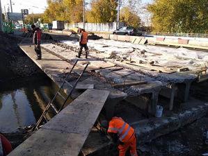 Стала известна дата завершения ремонта моста через реку Бугач в Красноярске