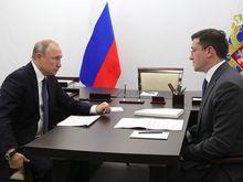 Нацпроекты, онкоцентр и рост экономики. О чем Глеб Никитин говорил с Владимиром Путиным?
