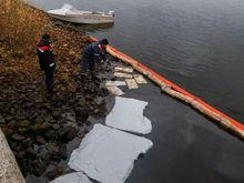 Более 600 литров нефтепродуктов собрано с Волги в районе Бурнаковской низины