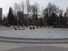 Отключили новый светомузыкальный фонтан в Центральном парке Новосибирска