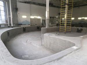 Инновационную технологию гидроизоляции применяют при ремонте бассейнов в ДК «Юность»