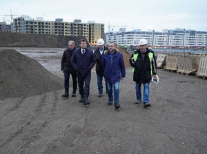 Сергей Ерёмин проинспектировал строительство аквапарка в Красноярске