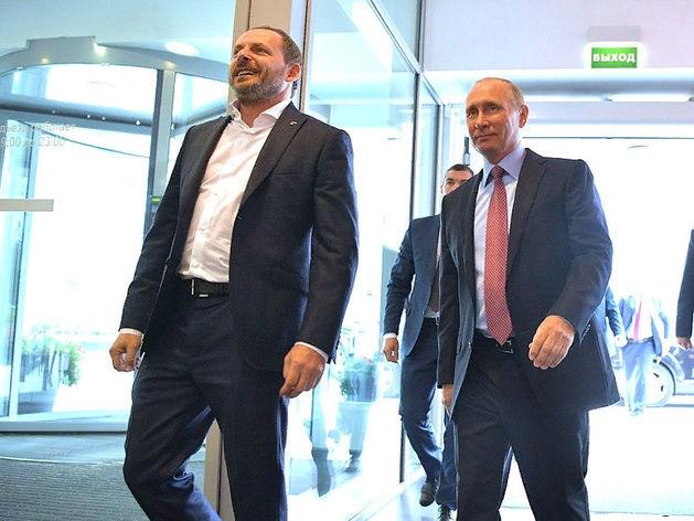 Аркадий Волож и Владимир Путин