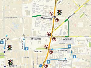 В первый день работы новой схемы ул. Шахтеров в Красноярске встала в 9-бальные пробки