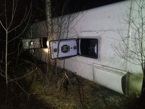 Четверо госпитализированы. Под Нижним Новгородом перевернулся автобус