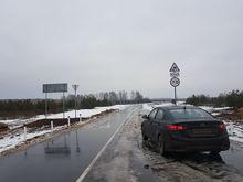 Вместо проезда по полю жители деревни Городное получили новую асфальтовую дорогу