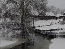 Январская оттепель вызвала подтопления поселков в Красноярском крае