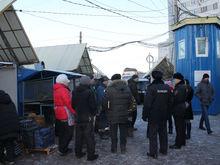 В Красноярске сносят рынок на ул. Матросова