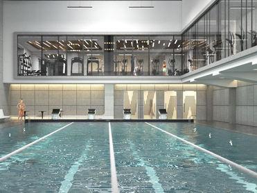 Сеть Bright Fit откроет двухуровневый фитнес-клуб с бассейном в квартале айтишников