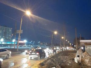 Освещение на участке от ул. Полярной до заправки на ул. Академика Сахарова восстановлено