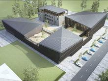 В Челябинске строят новое офисное здание на набережной Миасса