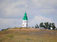 В Красноярске неизвестные подожгли траву на Караульной горе