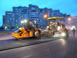На дорогах Красноярска начались подготовительные работы
