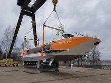 У нижегородцев появилась «Надежда». Еще одно судно на подводных крыльях спущено на воду