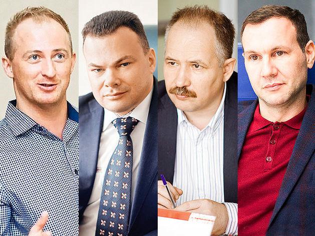 Слева направо: Вадим Шукуров, Павел Ефремов, Евгений Болотин, Александр Золоев