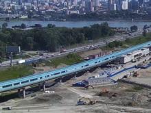 Завершили строительство подземного перехода под дамбой Октябрьского моста в Новосибирске