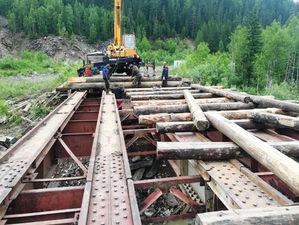 Смытый дождями мост в Курагинском районе восстановят в ближайшие дни