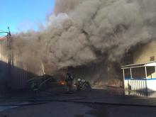 Склад краски горит в Канавинском районе Нижнего Новгорода