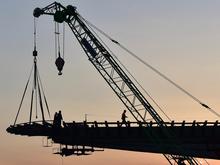 Построили первую опору четвертого моста через Обь
