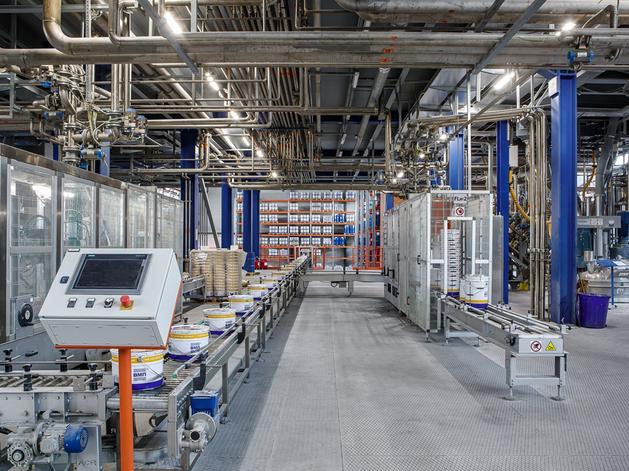 Фасовочная линия завода лакокрасочных материалов в Арамиле