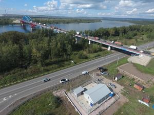 Мосту на глубоком обходе Красноярска повысили безопасность