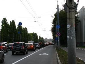 На Московском шоссе появилась выделенная полоса для общественного транспорта