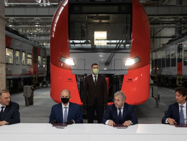 Разгоняются до 360 км/ч. В Свердловской области будут собирать скоростные поезда для ВСМ