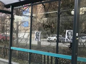 В Екатеринбурге неизвестные развесили листовки с портретом Макрона и подписью «Собака»