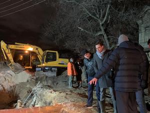 Водоснабжение восстановлено. Ночью Автозаводский район остался без воды из-за аварии