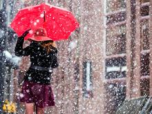 На выходных Красноярск ожидает снегопад и морозец