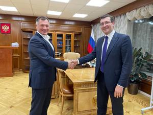 Марат Хуснуллин и Глеб Никитин провели рабочую встречу