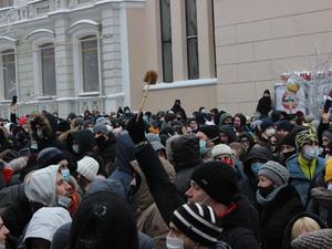 «Мы не боимся». Как нижегородцы протестовали 23 января? ФОТОРЕПОРТАЖ