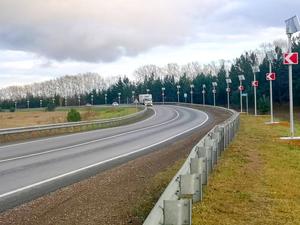На федеральных трассах в Красноярском крае ликвидировали 13 опасных участков