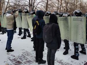 «Применили насилие к полиции». По итогам протестной акции возбуждены два уголовных дела