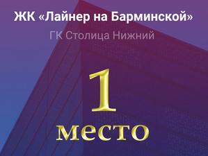 ЖК «Лайнер на Барминской» возглавил топ лучших новостроек Нижегородской области