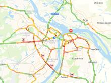 В Нижнем Новгороде 15 февраля на дорогах образовались десятибалльные пробки